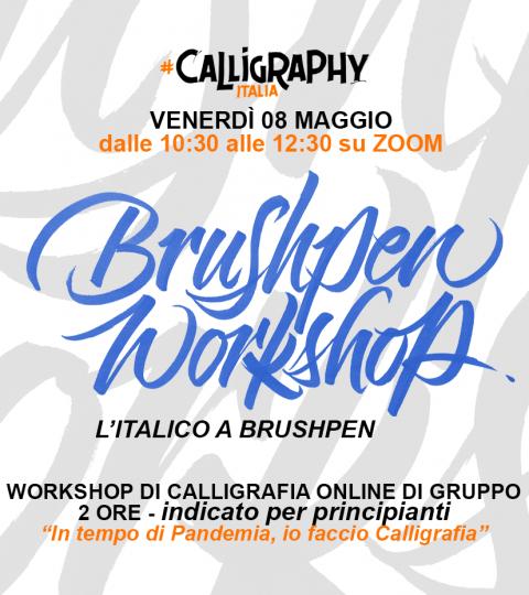 Workshop Di Calligrafia Online Di Gruppo – Italico A Brushpen