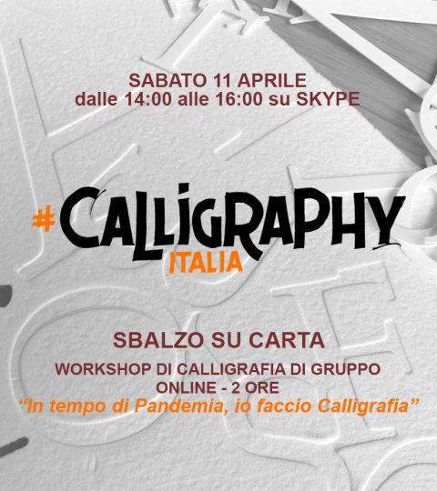Workshop Di Calligrafia Online Di Gruppo – Sbalzo Su Carta