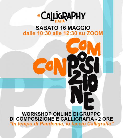 Workshop Di Calligrafia Online Di Gruppo – Composizione Con Posizione