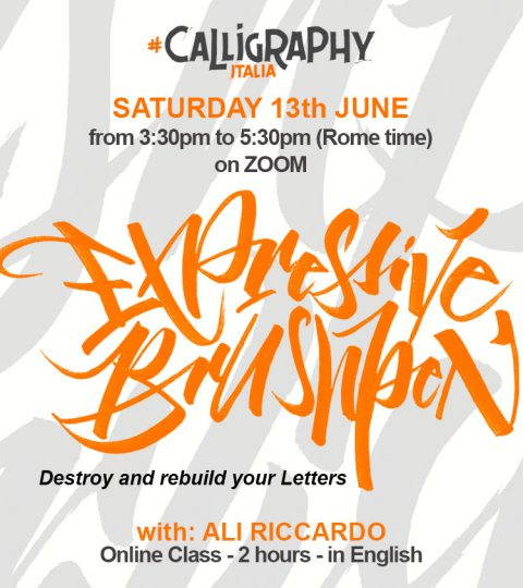 "EXPRESSIVE BRUSH ""Destroy And Rebuild Your Letters"" Online Class With Ali Riccardo"