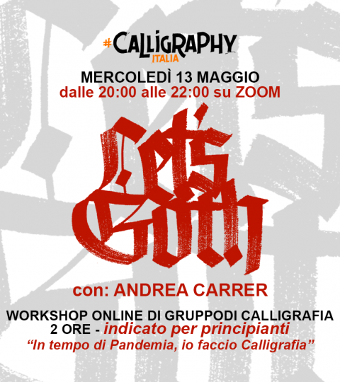 Workshop Di Calligrafia Online Di Gruppo – LET'S GOTH! Il Gotico Base Con Andrea Carrer