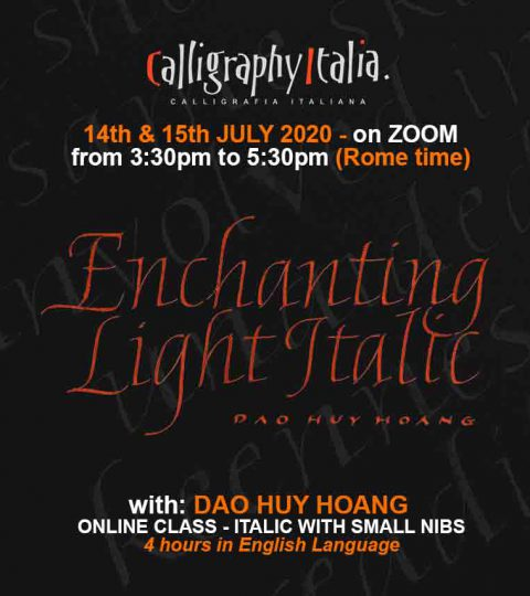 Enchangting Light Italic – Online Live Class With Huy Hoang Dao