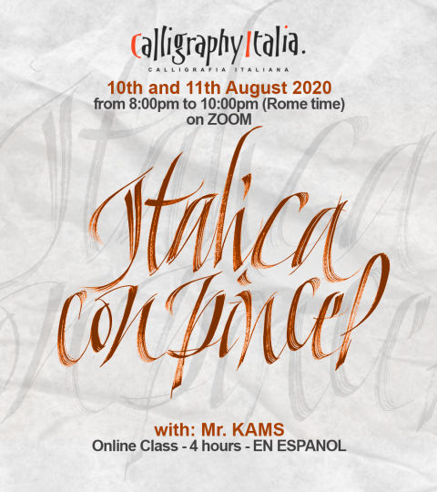 Italica A Pincel – Online Live Class With Mr. Kams