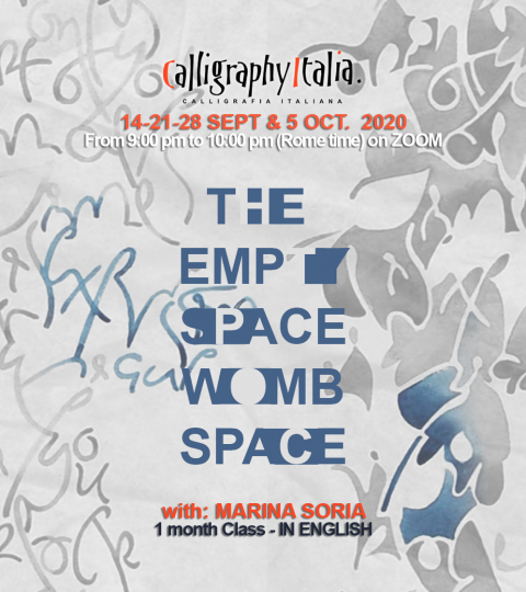 """1 Month Class – """"The Empty Space, Womb Of Shape"""" With Marina Soria (in English)"""