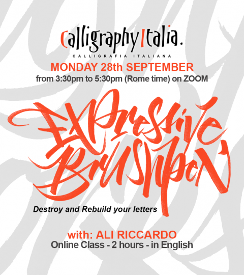 """EXPRESSIVE BRUSHPEN """"Destroy And Rebuild Your Letters"""" Online Class With Ali Riccardo"""