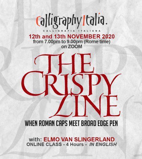 THE CRISPY LINE – Online Class With Elmo Van Slingerland