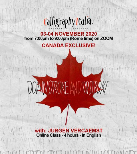 """DOWNSTROKE AND UPSTROKE """"Canada Exclusive Now AVAILABLE WORLDWIDE"""" – Online Class With Jurgen Vercaemst"""