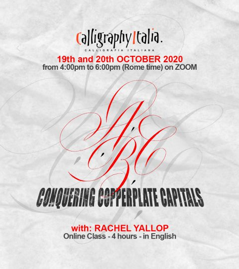 Conquering Copperplate Capitals – Online Class With Rachel Yallop