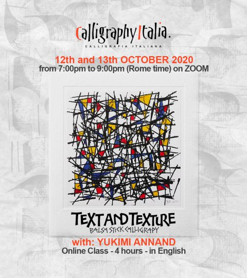 Text And Texture – Balsa Stick Calligraphy – Online Class With Yukimi Annand