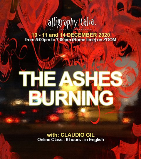 THE ASHES BURNING – Online Class With Claudio Gil