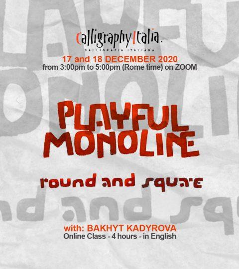 PLAYFUL MONOLINE: Round & Square – Online Class With Bakhyt Kadyrova