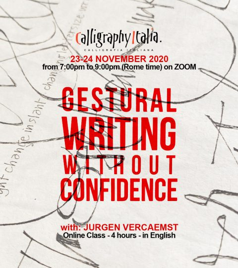 """Gestural Writing Without Confidence"" – Online Class With Jurgen Vercaemst"