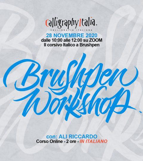 "BRUSHPEN WORKSHOP ""Italico A Brushpen"" Corso Online Con Ali Riccardo"