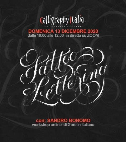 TATTOO LETTERING – Corso Online Con Sandro Bonomo