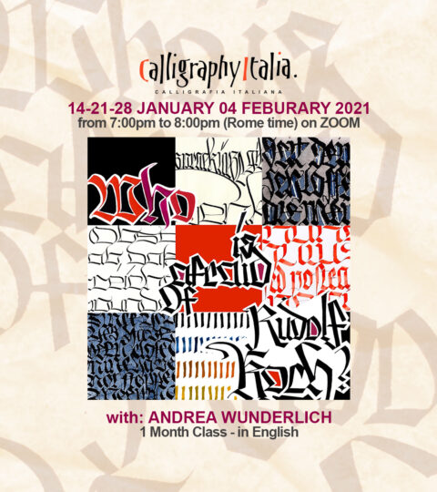 1 Month Class – WHO IS AFRAID OF RUDOLF KOCH? – With Andrea Wunderlich