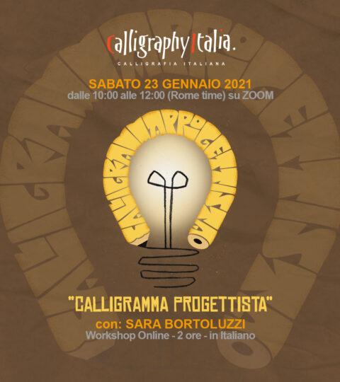 CALLIGRAMMA PROGETTISTA – Corso Online Con Sara Bortoluzzi