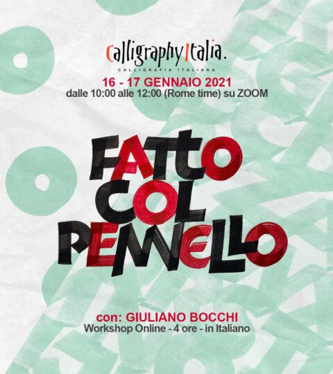 FATTO COL PENNELLO – Corso Online Con Giuliano Bocchi