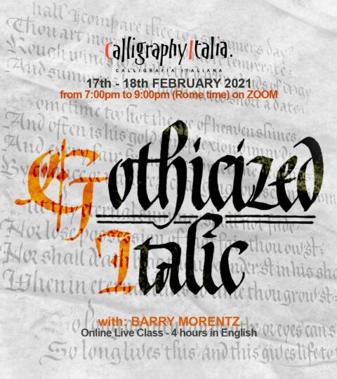 """GOTHICIZED ITALIC"" – Online Class With Barry Morentz"