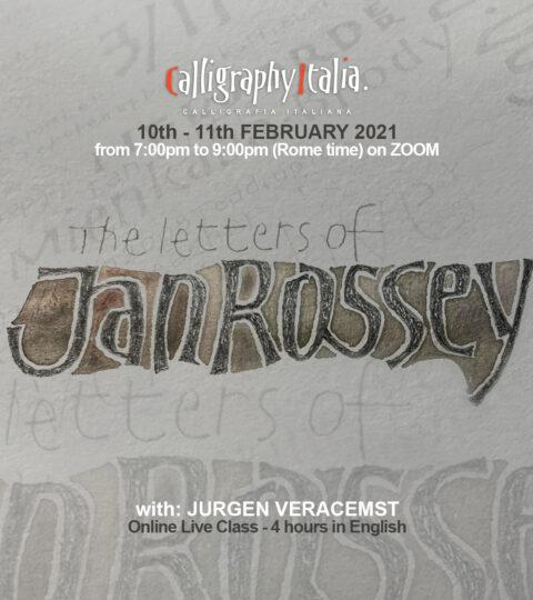 """THE LETTERS OF JAN ROSSEY"" – Online Class With Jurgen Vercaemst"