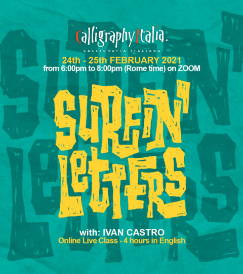 """SURFIN' LETTERS"" – Online Class With Ivan Castro"