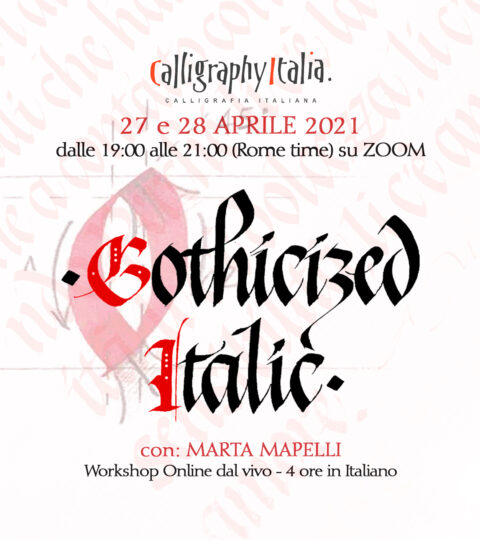 GOTHICIZED ITALIC In Italiano – Corso Online Con Marta Mapelli
