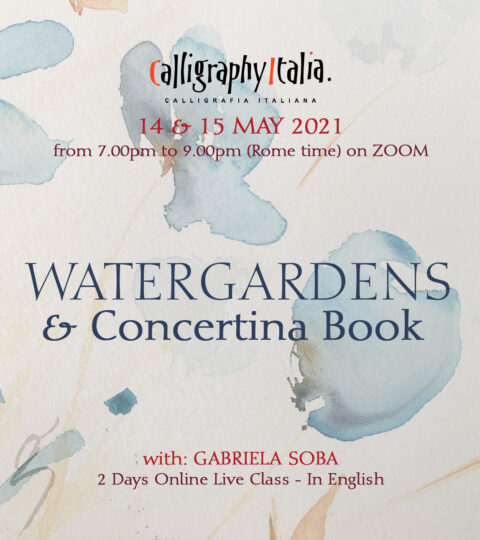 """""""WATERGARDENS & Concertina Book"""" – Online Class With Gabriela Soba"""