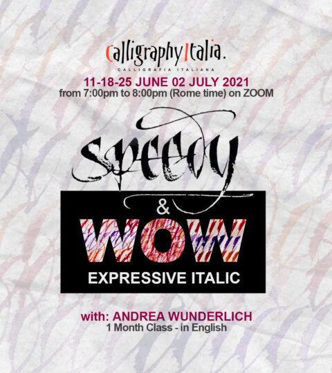 1 Month Class – SPEEDY & WOW – Expressive Italic With Andrea Wunderlich
